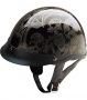 Half Helmet HCI 100-107 SILVER SCREAMING SKULLS