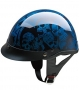 Half Helmet HCI 100-108 BLUE SCREAMING SKULLS