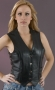 Ladies Braded Side Laced , Leather Vests