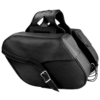 MEDIUM PVC ZIP-OFF SADDLE BAG SH 667 ZB